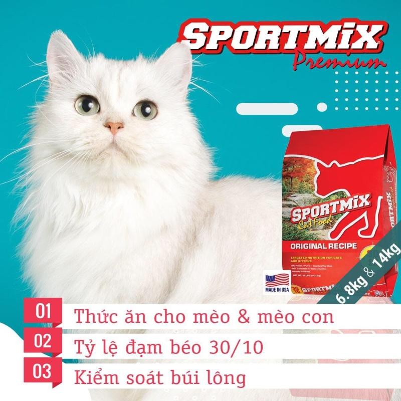 Thức ăn cho mèo chuẩn Mỹ Sportmix cat food original recipe 6,8kg