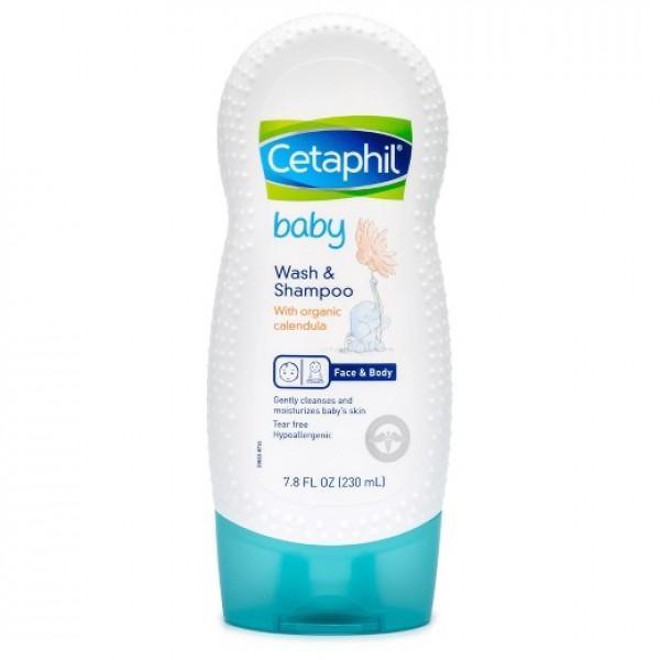 Sữa Tắm Gội Toàn Thân Cho Bé Cetaphil Baby Wash And Shampoo With Organic Calendula 230ml - USA Giá Ưu Đãi Nhất