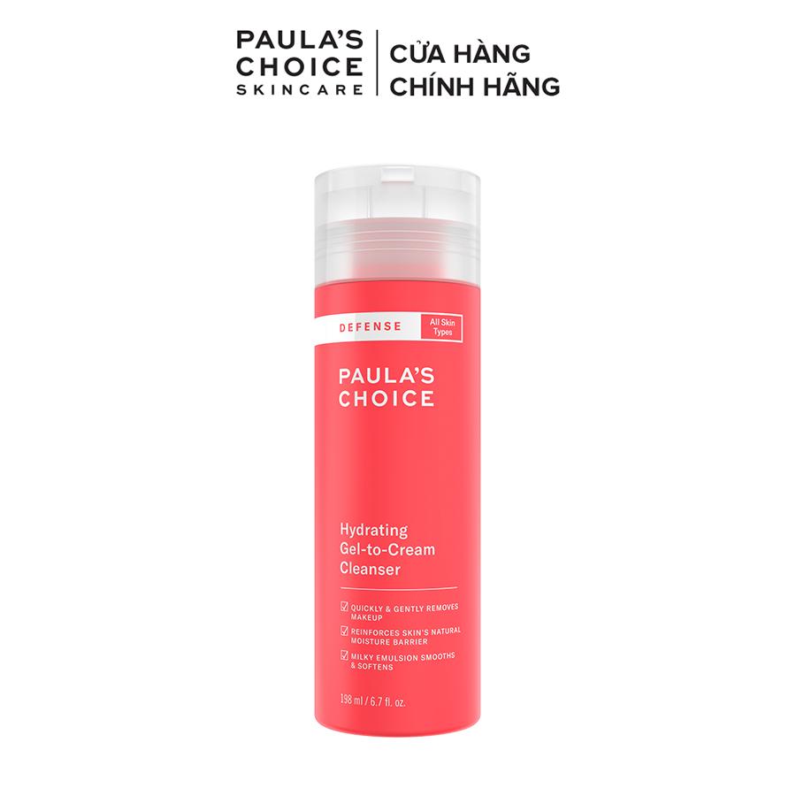 Sữa rửa mặt ngăn ngừa tác hại từ môi trường dành cho mọi loại da Paula's Choice Defense Hydrating Gel to Cream Cleanser 198ml