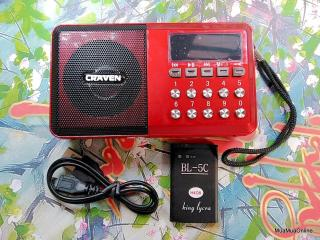 Loa Nghe Nhạc Usb, Thẻ Nhớ, Fm Craven Cr-65 Có Đèn Pin Cao Cấp thumbnail