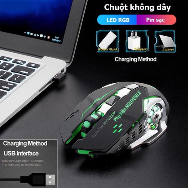 Bảng giá Chuột Không Dây Chuyên Game Free Wolf X8 Wireless 2.4GHz SIÊU NGẦU Tự Động Đổi Màu Sắc Dùng Cho Máy Tính Laptop PC Tivi Pin Sạc Dùng Siêu Lâu Chỉnh Được DPI Phong Vũ