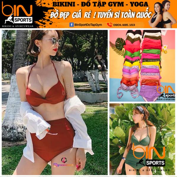 Bikini Nữ Hai Mảnh Cạp Cao Nhiều Màu Bin Sports BHV018