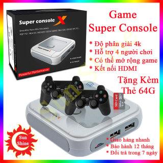 Máy chơi game điện tử Super Console cao cấp kết nối HDMI 4K có thể update game bằng thẻ nhớ, tay cầm chơi game cao cấp Ps1, Ps2, Ps3, Ps4 thumbnail