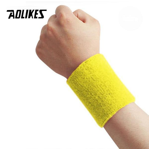 [FLAT PRICE 8K] [TẾT] Băng thấm mồ hôi đeo cổ tay khi chơi thể thao Sport Fitnes Absorb Sweat And Wrist Protctor AOLIKES A-0230