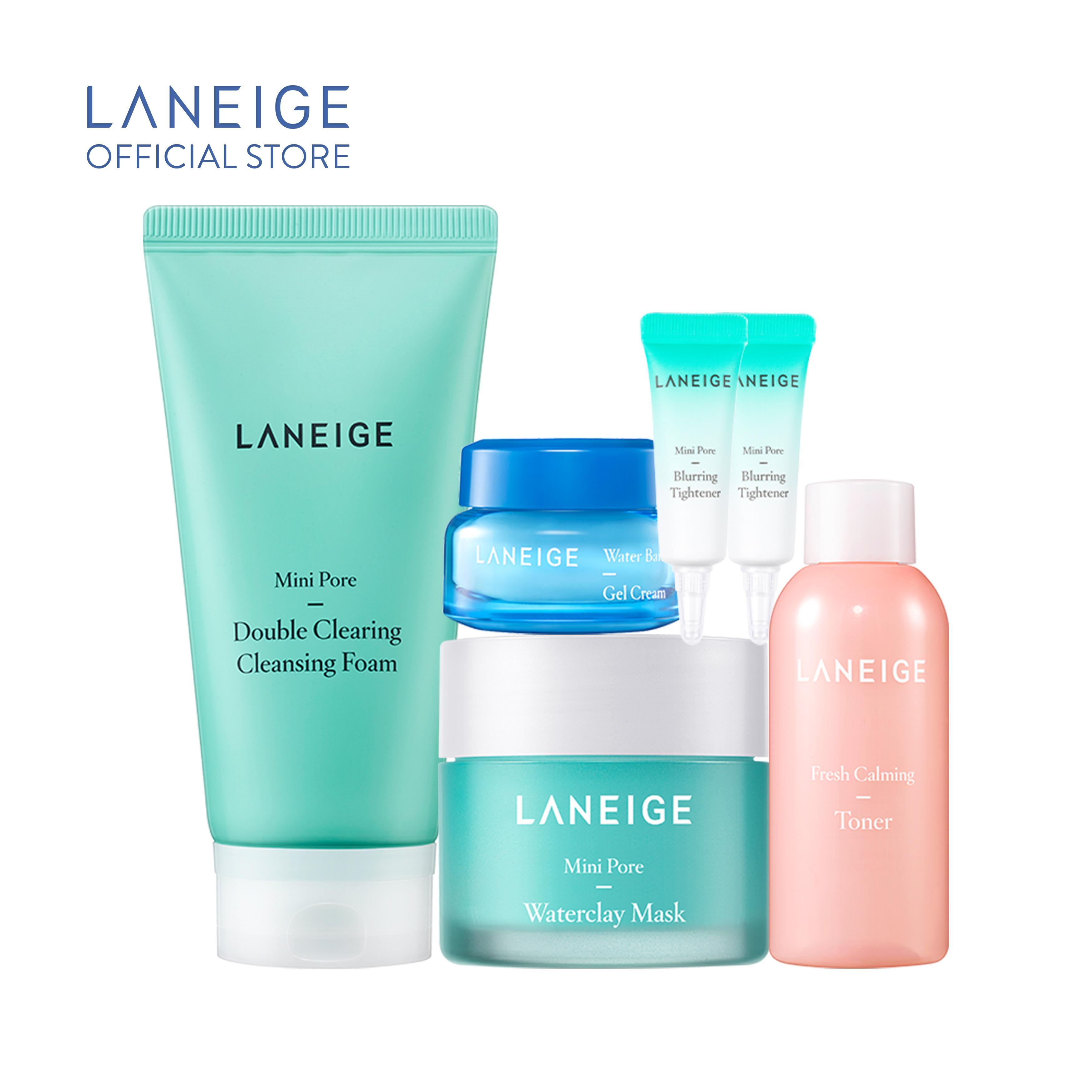 Bộ Làm Sạch Và Se Khít Lỗ Chân Lông Cho Da Nhờn Dầu Laneige Mini Pore nhập khẩu