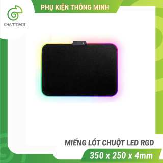 [HCM]Miếng lót chuột LED RGB Sharkoon bàn di chuột led 7 màu đơn và 3 hiệu ứng ánh sáng chống trượt Chammart thumbnail