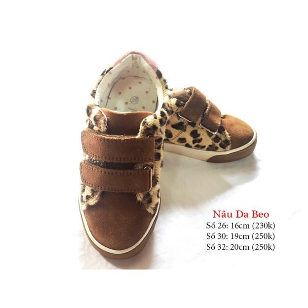 Giày da beo bé gái, sản phẩm đang được săn đón, chất lượng đảm bảo và cam kết hàng đúng như mô tả giá rẻ