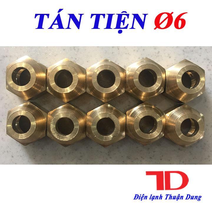 Combo 10 Tán Ống Đồng, Tán Tiện Phi 6 Loại Tốt