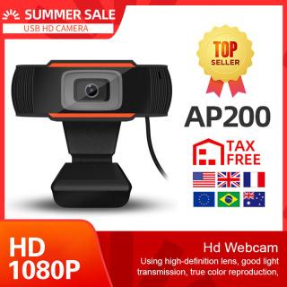Webcam HD 1080P Tích hợp Mics Máy tính PC 1080P Máy tính Web Camera USB Pro Stream Camera cho Máy tính để bàn Máy tính để bàn PC Game Cam Cho Linux, OS X Windows10 8 Android 5.1 trở lên thumbnail