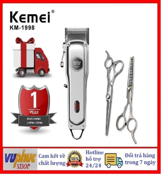 Tông đơ cắt tóc người lớn không dây chuyên nghiệp Kemei KM-1998