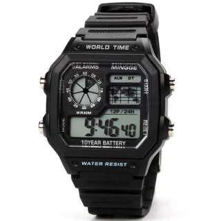 Đồng hồ nam điện tử SPORT S599 dây silicon -đồng hồ chức năng xem giờ điện tử , báo thức, bấm giờ thể thao dây nhựa silicon cao cấp thumbnail