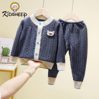 Kidsheep đồ bộ trẻ em Bộ đồ dài tay trẻ em Bộ đồ dệt kim cho bé