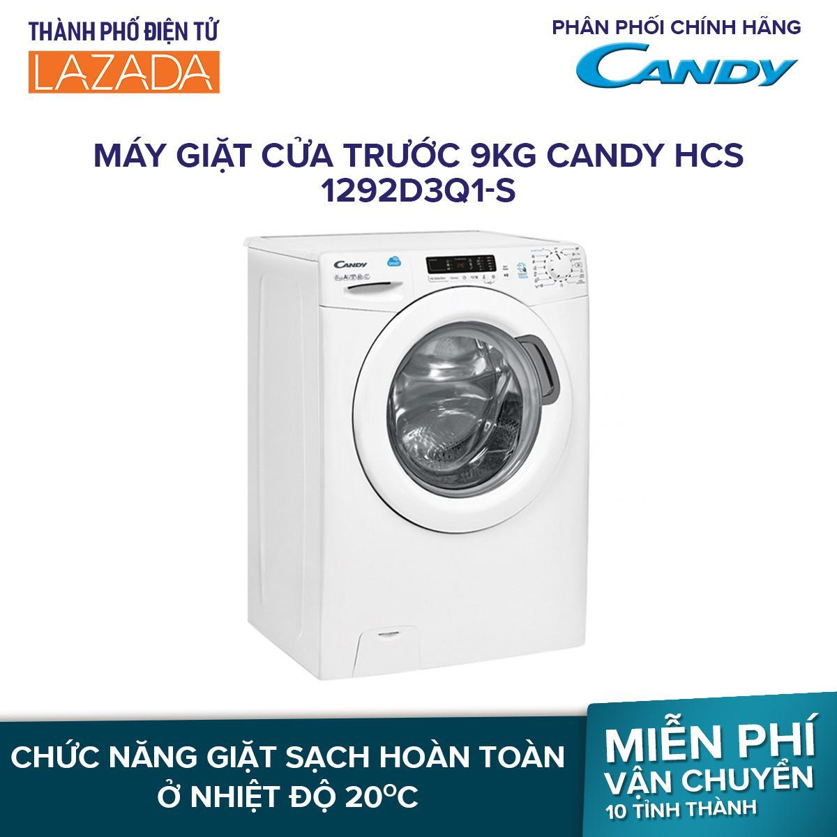 Máy giặt cửa trước Candy 9kg HCS 1292D3Q/1-S