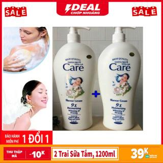 Combo 2 Trai sữa tắm, Sữa Tắm Dê White Care 9x Cao Cấp Chai Khổng Lồ 1200ml x 2 chai, HSD đến tháng 23-06-2023 thumbnail