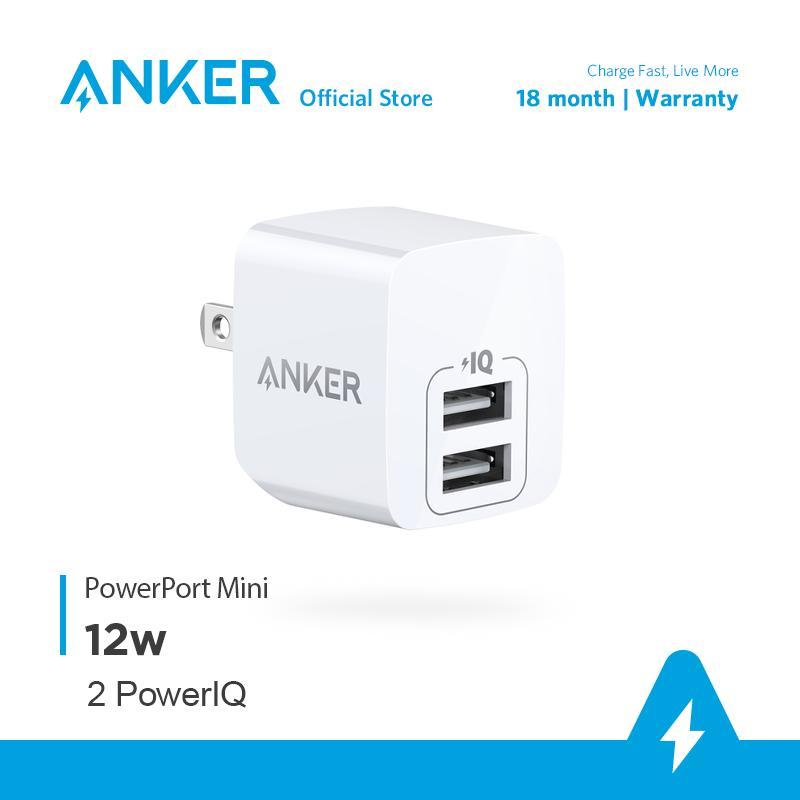 Sạc ANKER PowerPort Mini 2 Cổng, 12w - A2620