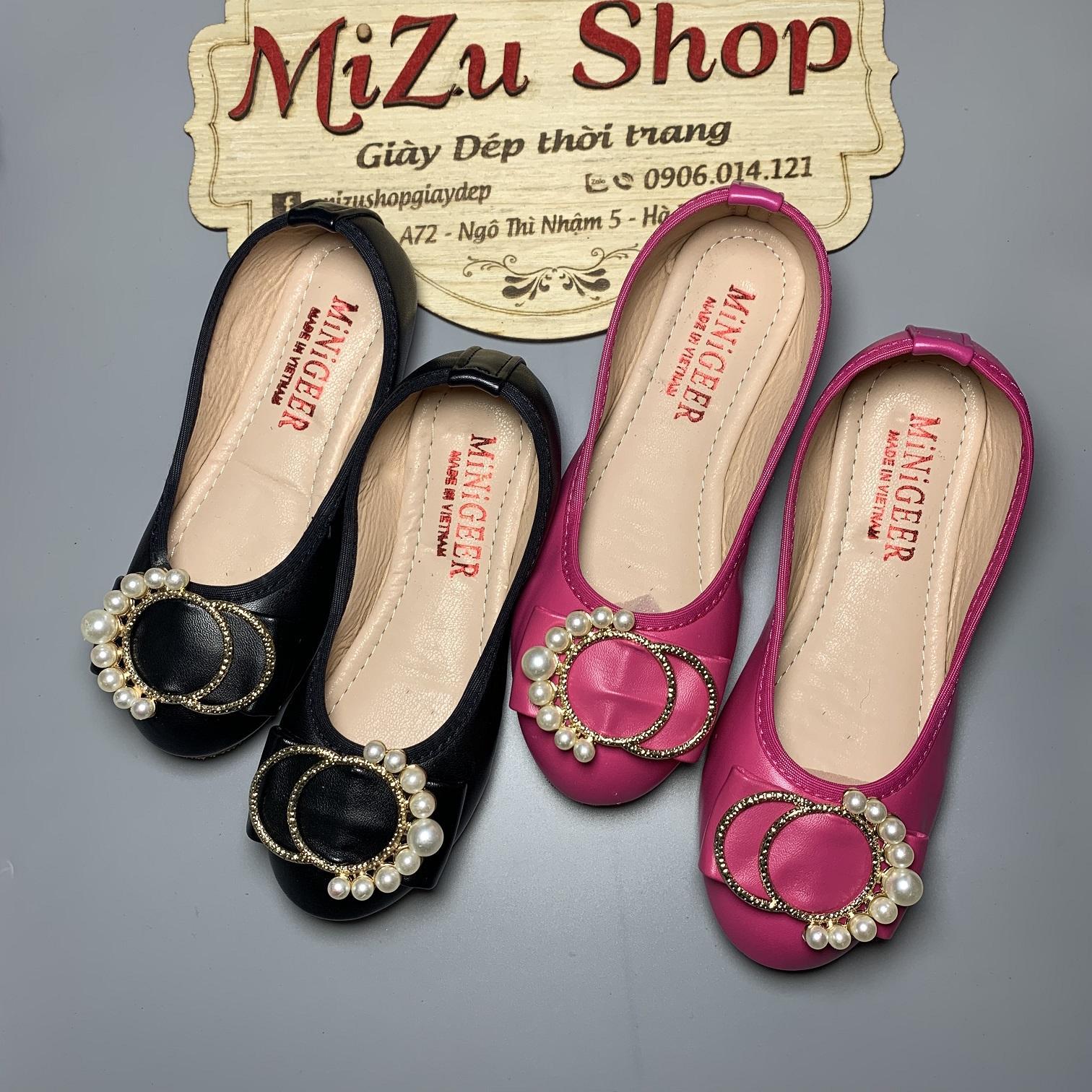 Giá bán (Ảnh thật) Size 25 đến 33 Giày bé gái da mềm mã 1408