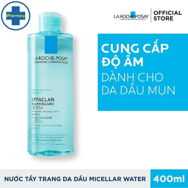 Nước Tẩy Trang LaRoche Posay Cho Da Dầu, Nhạy Cảm 400ml Effaclar Micellar Water Ultra Oily Skin