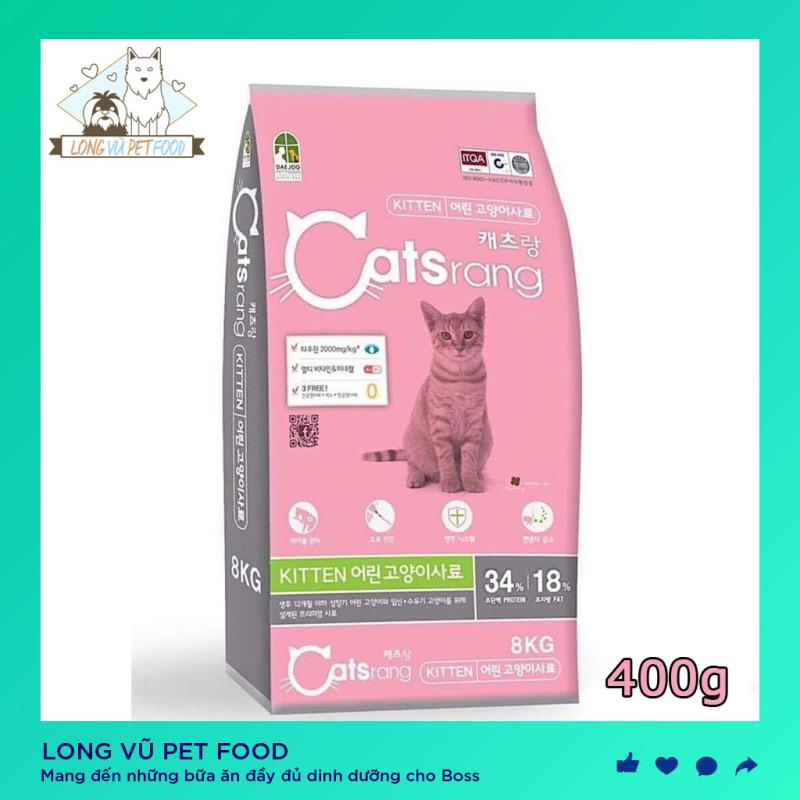 [Túi 400g] Thức Ăn Cho Mèo Con Dạng Hạt Catsrang Kitten, hạt cho mèo catrang, hạt catsrang - Long Vũ Pet Food