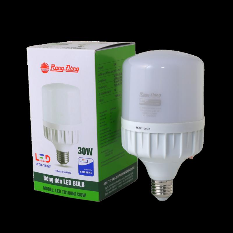 Bóng đèn LED Rạng Đông Bulb trụ TR100N1 – 30W chip led SS chất lượng ánh sáng cao góc mở sáng rông chịu nhiệt tản nhiệt nhanh