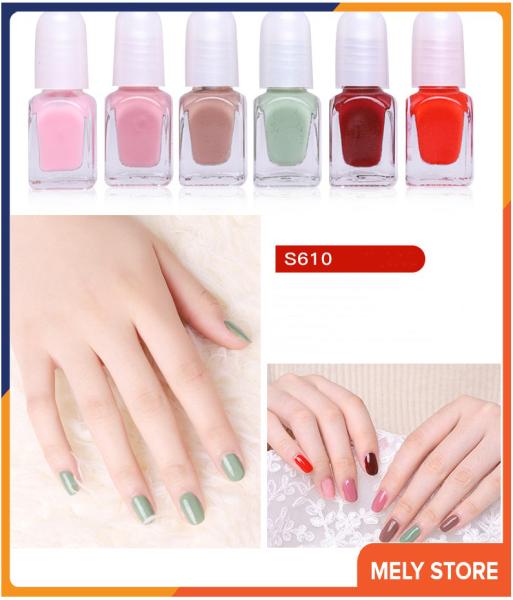 Set sơn móng tay mini dạng nước 6 màu, bộ nước sơn móng tay, sơn móng tay thường được sử dụng nhất, sơn móng tay bóng tốt nhất