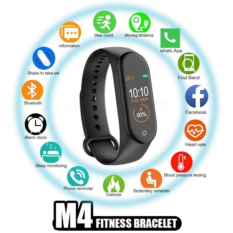 Giá Vòng đeo tay thông minh theo dõi sức khỏe M4 / Band M4 , Kết nối Bluttooth, đồng hồ thông minh