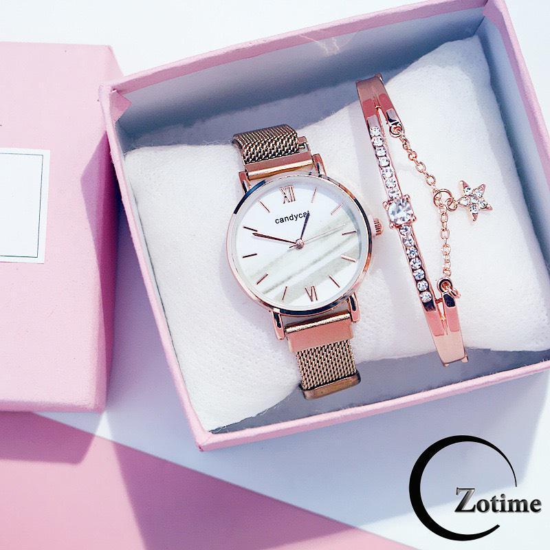 Nơi bán Đồng hồ nam nữ thời trang thông minh Zotime dây lưới nam châm cực đẹp ZO34
