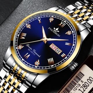Đồng hồ nam FOURRON FR0128 Chạy 2 Lịch Doanh nhân 2020 dây thép không gỉ cao cấp thumbnail