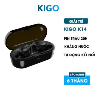 Tai nghe bluetooth không dây gaming có mic pin siêu trâu- Tai phone bluetooth nhét tai tương thích mọi loại máy và các hệ điều hành Kigo K14 thumbnail