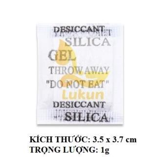Gói Hút Ẩm Silicagel 1kg loại túi 1/2/3/4/5/10/20/50/100gr/200/500/1000g - Hạt hút ẩm Lukun