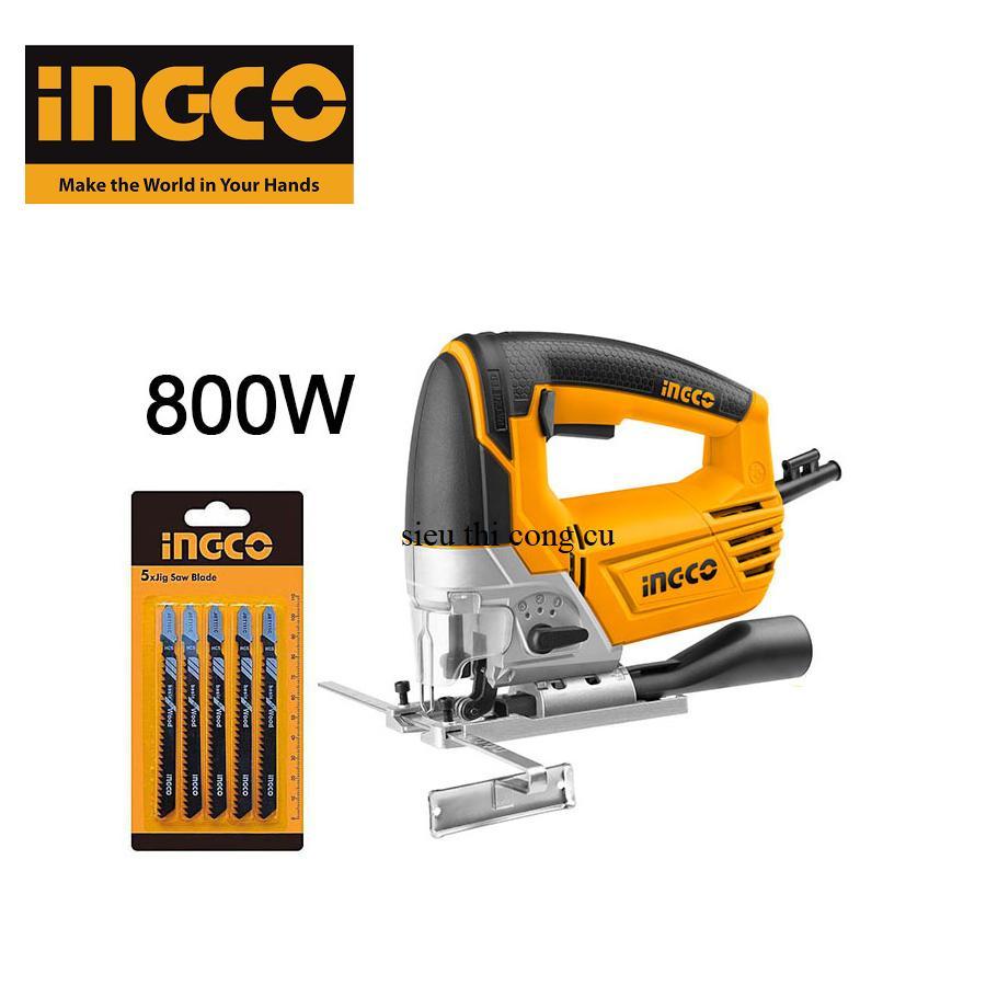 800W Máy cưa lọng INGCO JS80028 ( Kèm theo 5 lưỡi cưa và 1 bộ carbon )