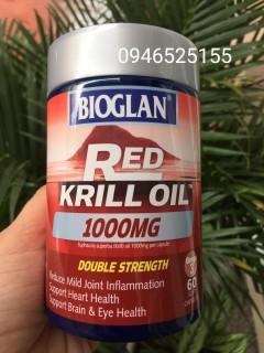 Dầu cá nhuyễn thể Red Krill oil Biogland 60 viên thumbnail