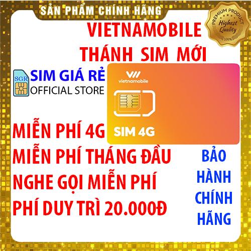 Thánh Sim 4G Vietnamobile mới Miễn phí DATA không giới hạn - Nghe gọi nội mạng miễn phí - Miễn phí tháng đầu - Phí duy trì 20.000đ - Shop Sim Giá Rẻ