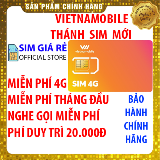 Thánh sim 4G Vietnamobile mới Miễn phí DATA không giới hạn - Phí duy trì 20.000đ - Shop Sim Giá Rẻ thumbnail
