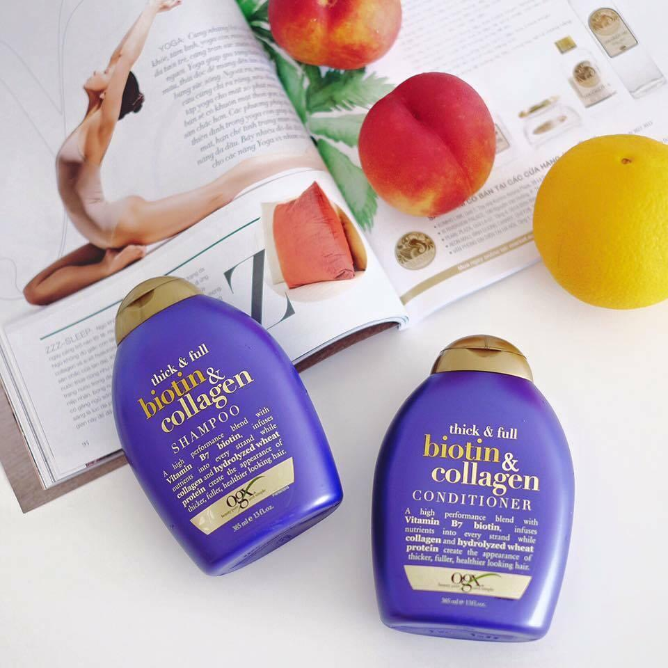 Dầu gội Colalagen dưỡng dày tóc  Organix Thick & Full Biotin & Collagen 385ml tốt nhất
