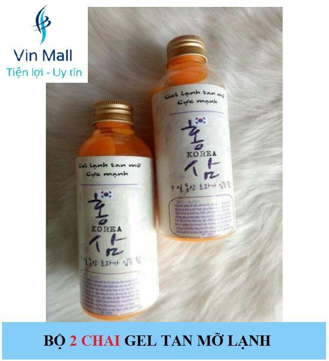 Bộ 2 Gel Lạnh Tan Mỡ Cực Mạnh Hàn Quốc (Mẫu mới) chính hãng