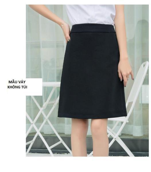 (S-5XL)-Chân váy công sở dáng A dài gần tới gối (53cm)