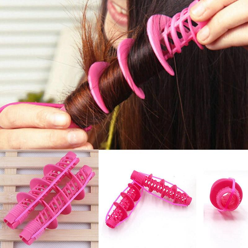 2Pcs Hair Styling Tools Hair Care Natural Big Wave Curls Rollers Curlers Curling Styling Tool nhập khẩu
