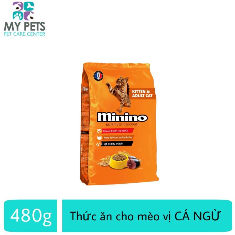 Thức ăn vị cá ngừ dành cho mèo mọi lứa tuổi - thức ăn cho mèo minino 480g