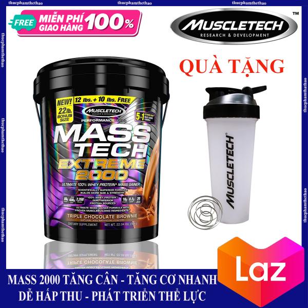 Sữa Tăng Cân Mass Tech Extreme 2000 22lbs (10kg) [Tặng Bình Lắc] nhập khẩu