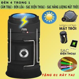 ( HÀNG CAO CẤP) Đèn Cắm Trại Xạc Bằng Năng Lượng Mặt Trời Có Cổng Sạc USB, Tích Điện Lâu, Thiết Kế Gọn Nhẹ Tiện Sử Dụng - (BẢO HÀNH 6 THÁNG) thumbnail
