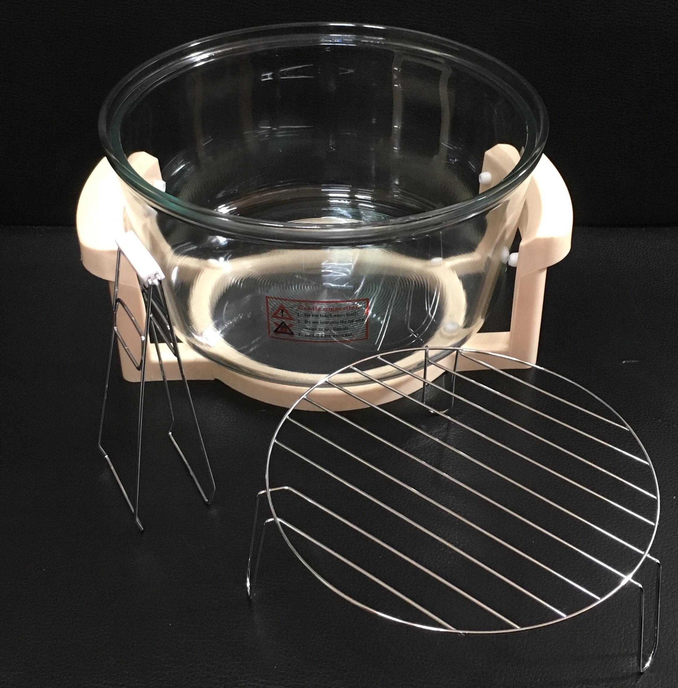 Lò thuỷ tinh 12lít dùng cho lò nướng halogen glass oven bowl