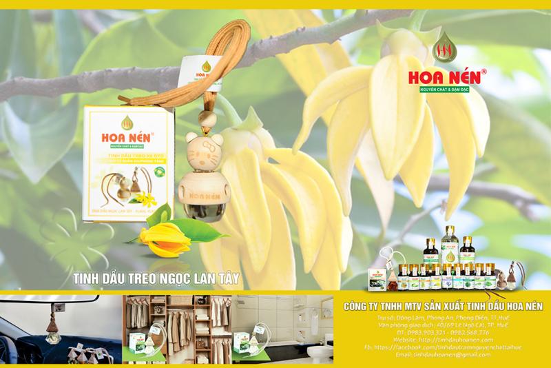 Tinh dầu treo Ngọc Lan Tây - Hoa Nén