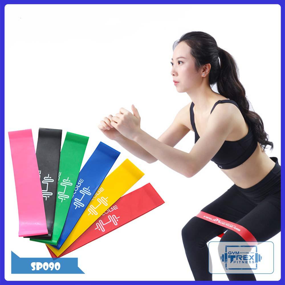Bộ 6 dây kháng lực Mini Band đa năng SP090 - Dây cao su tập gym (phụ kiện gym, mini band, tập mông, tập chân, thể dục, thể hình, Yoga, Aerobic,Zumba Fitness)