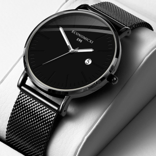 Đồng hồ nam ECONOMICXI dây thép mành đen nam tính - Thiết Kế Khỏe Khoắn mẫu 2020 GADNEW20 thumbnail