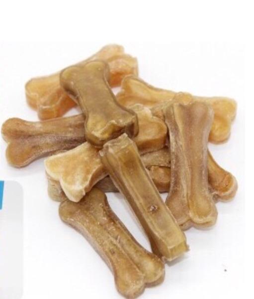 Hanpet-   Túi 10 chiếc 5cm Xương da bò cao cấp dành cho chó gặm sạch răng, khử mùi hôi miệng -