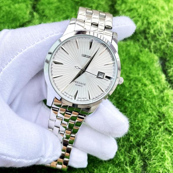 Nơi bán Đồng hồ nam Kim Trôi Seik  màu đen, màu bạc, dây thép đặc sang trọng ( Tặng 2 PIN dự phòng + Hộp + Thẻ Điện Thoại )