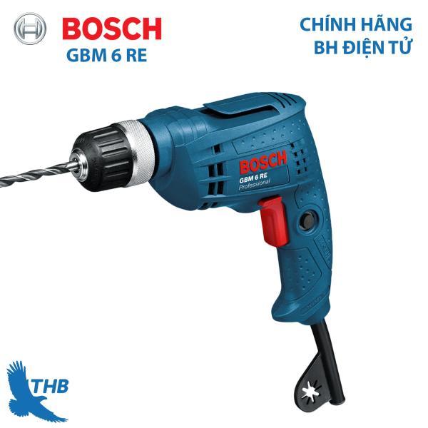 Máy khoan điện cầm tay Máy khoan xoay Bosch GBM 6 RE Công suất 350W Bảo hành 06 tháng Động cơ mạnh mẽ cho các ứng dụng khó khăn