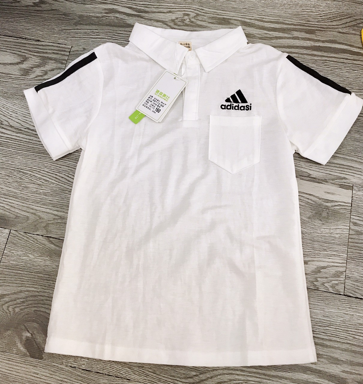 áo phông trắng có cổ bé trai size 14-22kg  vm-34
