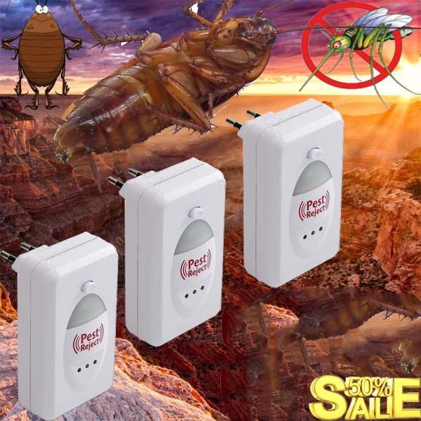 Máy Đuổi Chuột Thông Minh - Công Nghệ Nhật Bản Bằng Sóng Siêu Âm Pest Reject an toàn cho người dùng, thân thiện với môi trường, Đa chức năng: đuổi muỗi, ruồi, chuột, gián…