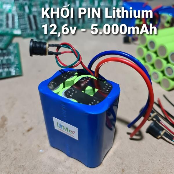 Khối pin Lithium 12,6v 5000mAH Pin mới, dung lượng lớn, dòng xả cao (Mua 2 khối pin được tặng 1 máy sạc pin lithium 3s 12,6v). LiMo - Lithium Batery